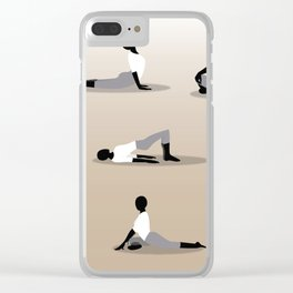 Yoga Poses Clear iPhone Case