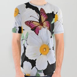 Matilija Poppies and Plumeria All Over Graphic Tee