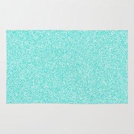 Melange - White and Turquoise Rug