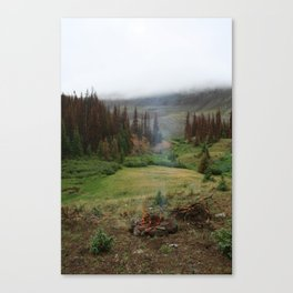 Smoke in the Woods Canvas Print