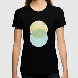 duality: yellow & teal T-shirt