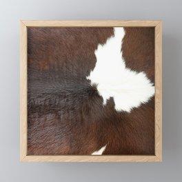 Brown Cowhide Farmhouse Decor Framed Mini Art Print