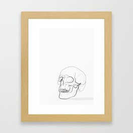 Skull Line Drawing Framed Art Print