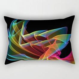 Dancing Northern Lights, Abstract Summer Sky Rectangular Pillow