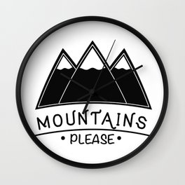 Road Trips And Mountain Vintage Wall Clock