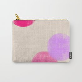 Let's Appreciate Our Shapes no.13 - pink minimal art Carry-All Pouch
