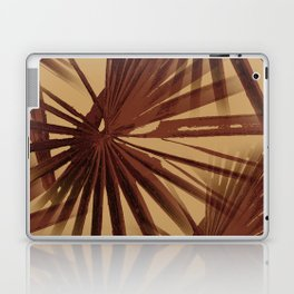Burgundy and Coffee Tropical Beach Palm Vector Laptop & iPad Skin