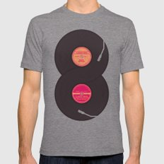 infinity vinyl records Tri-Grey LARGE Mens Fitted Tee