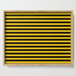 Iowa Team Colors Stripes Serving Tray