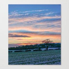 Sunset & Snow Canvas Print