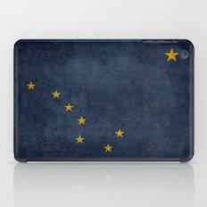 Alaskan State Flag, Distressed worn style iPad Case
