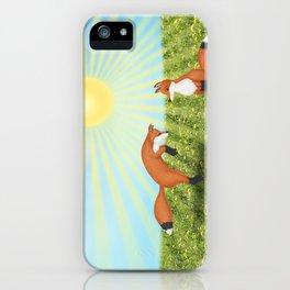 sunshine fox fun iPhone Case