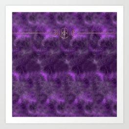 The Goddess Circle - Cosmic Purple Art Print