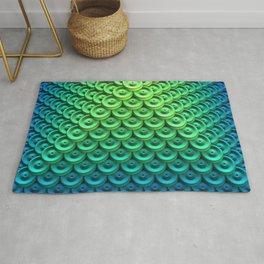Button Pyramid Rug