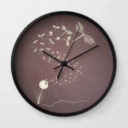 Dandelion's metamorphosis Wall Clock