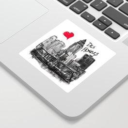 I love Des Moines Sticker