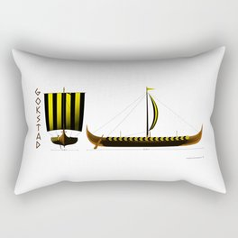 Gokstad Viking Ship Rectangular Pillow