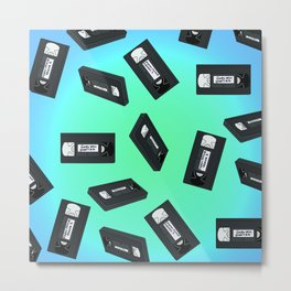 VHS Tapes 2 Metal Print