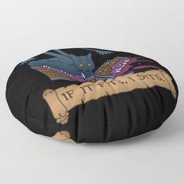 If it Fits, I Sits Floor Pillow