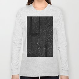 white speckled contrasted bricks - black and white Long Sleeve T-shirt