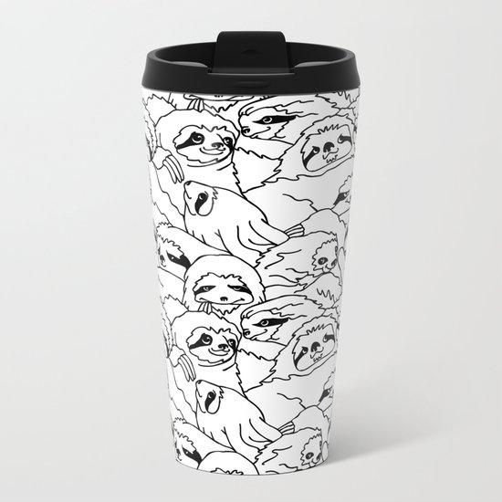 Oh Sloth Metal Travel Mug