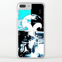 Blue Monkey Clear iPhone Case