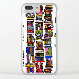 get thee to a library ... Clear iPhone Case