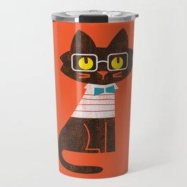 Fitz - Preppy cat Travel Mug