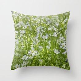 Wild Woodland Anenomes Throw Pillow