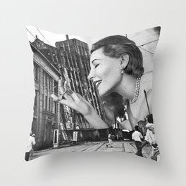 The Feel of Something Real Throw Pillow