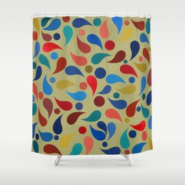 Abstract Composition 386 Shower Curtain