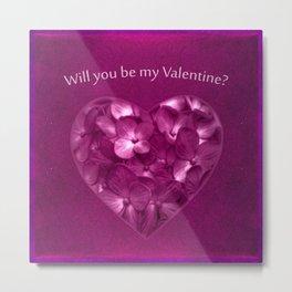 Valentine Day Print Design Metal Print