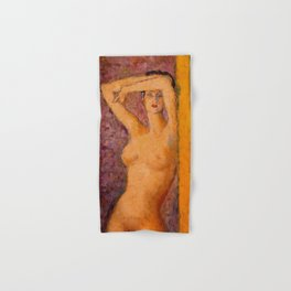 Summer in Paris, Female Portrait by Arturo Souto Hand & Bath Towel