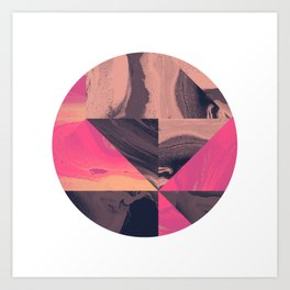 Triangular Magma Art Print