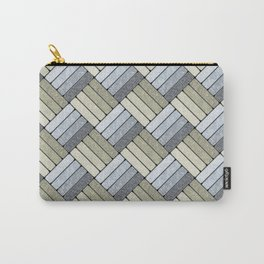 Pattern Play in Grays Carry-All Pouch