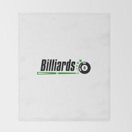 Billiard #society6 Throw Blanket