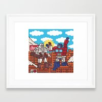 transformers Framed Art Prints featuring Transformers by Zhenya Barsikestribu