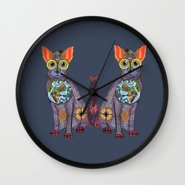 Sea Cat with friends Wall Clock
