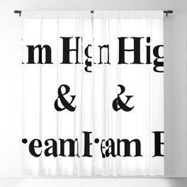 Aim High & Dream Big in Black Blackout Curtain
