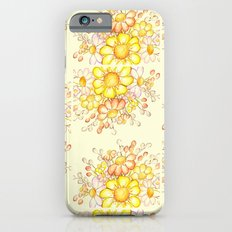 Larger Faded Flowers Tiled Slim Case iPhone 6s
