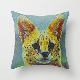Serval II Throw Pillow