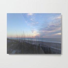 Winter sunrise sky Metal Print