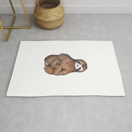 sloth painting nails Rug