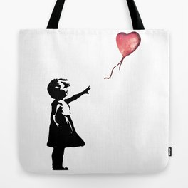 Banksy cosmic balloon Tote Bag