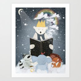 the big book of clouds Art Print