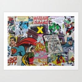 Comics Trip, Full Canvas Art Print