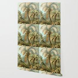 Vintage Tropical Palm Wallpaper