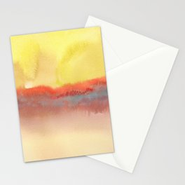 Watercolor abstract landscape 01 Stationery Cards