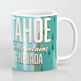 Lake Tahoe map Coffee Mug
