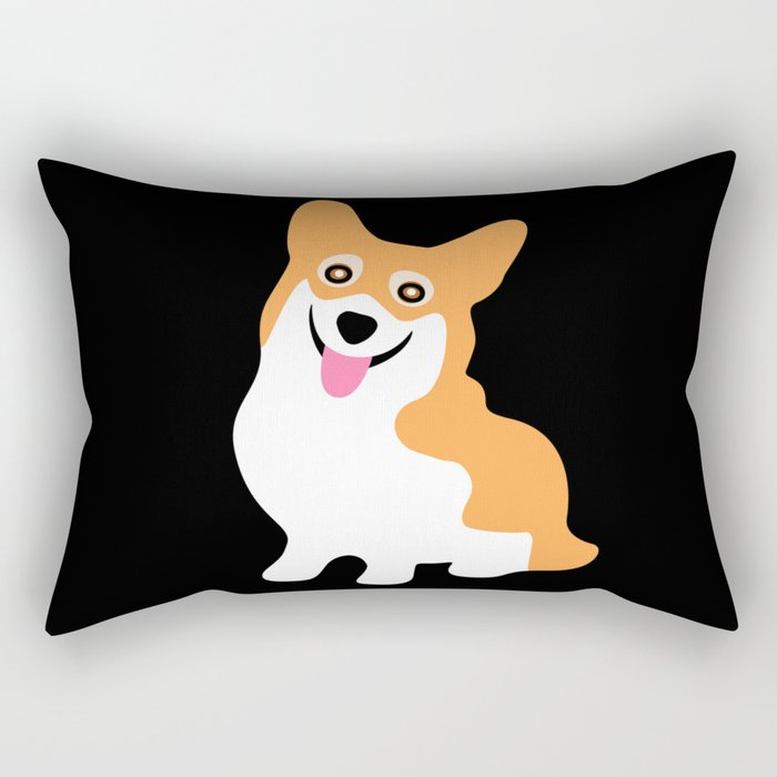 Cute Little Corgi Rectangular Pillow